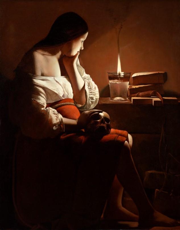 de La Tour, Magdalene and the smoky flame