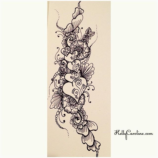 Henna Flower Designs On Paper Love The Notebook Paper Create When