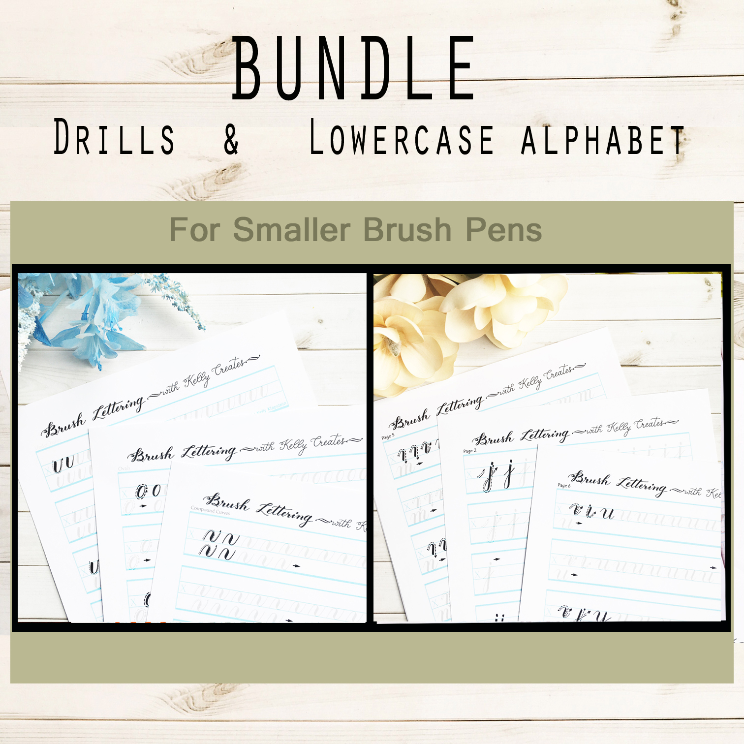 Bundle 2 Drills Amp Lowercase Alphabet For Small Brush Pens