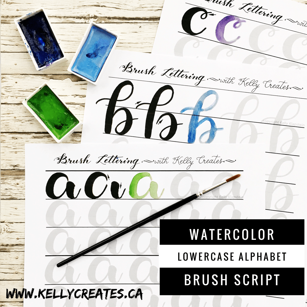 Watercolor Brush Lettering Worksheets Have Arrived