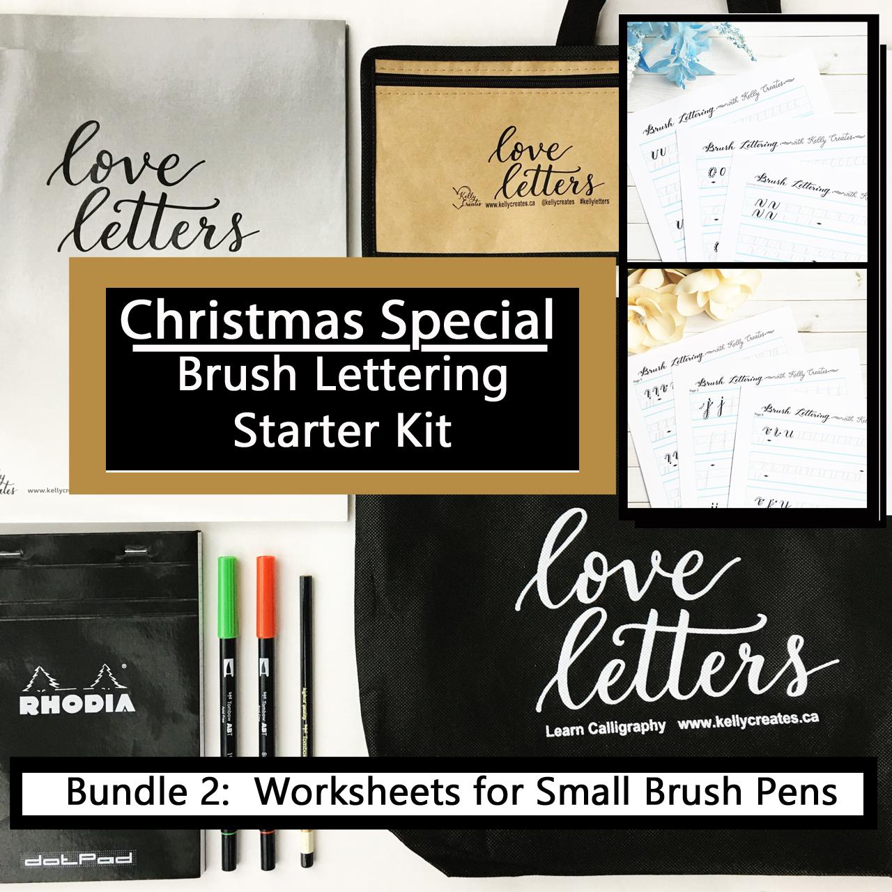 Christmas Special Starter Kit For Small Brush Pens