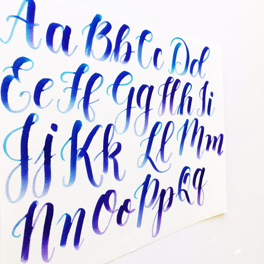 Calligraphy With Capital Letters Video Amp Freebies Kelly Creates