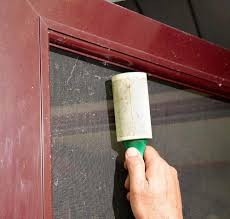 How to clean screen doors and windows