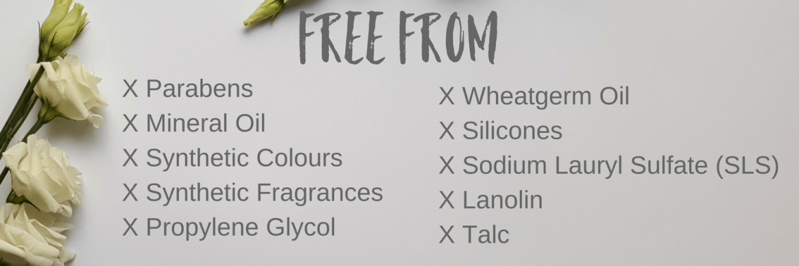 FREE FROM INGREDIENTS