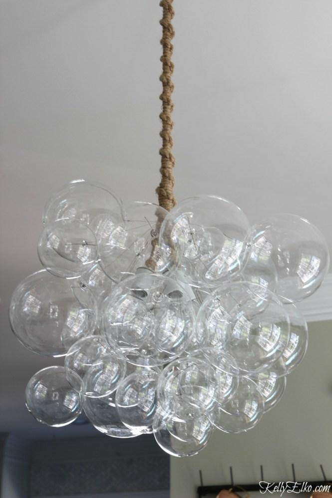 Love This Bubble Chandelier With Jute Cord It S A True Work Of Art Kellyelko