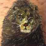 Majesty lion - acrylics on canvas - Kelly Goss