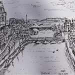 Sketch of the Limmat River, Zurich - Kelly Goss