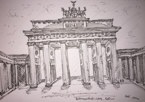 Sketch of Brandenburg Gate, Berlin - Kelly Goss