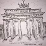 Sketch of Brandenburg Gate, Berlin - Kelly Goss