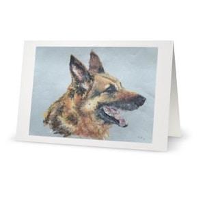 German shepherd dog greeting cards each kelly goss art code 006 german shepherd dog card kelly goss art m4hsunfo