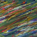 """""""Organised chaos"""" Abstract - acrylics on canvas - Kelly Goss Art"""