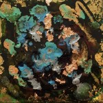 """""""Seascape"""" abstract - Pebeo mixed media - Kelly Goss Art"""