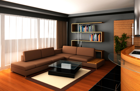 Chocolate Couch Living Room