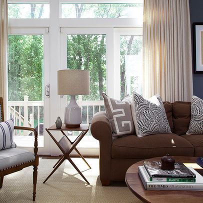 Living Room Ideas with Brown Sofas