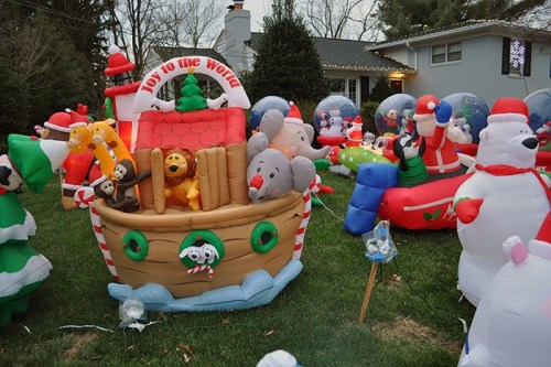 outdoor christmas inflatable yard decorations