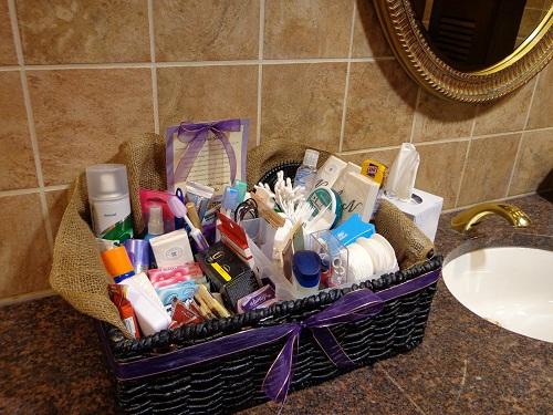 Wedding Reception Bathroom Basket
