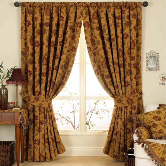 Traditional Curtains for Sliding Glass Doors
