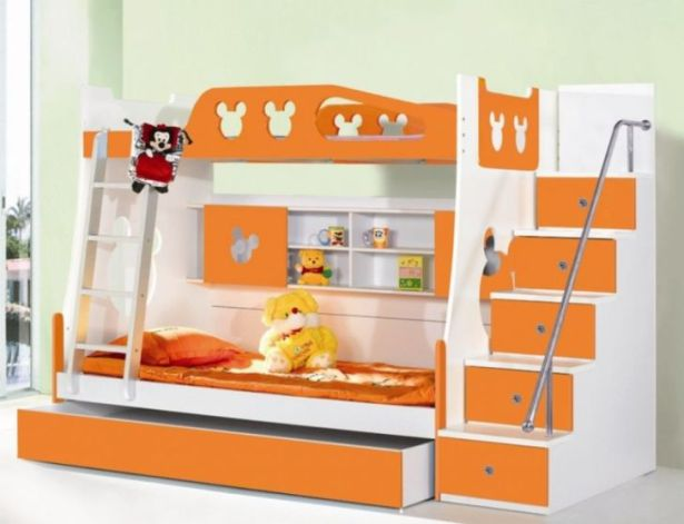 Triple Bunk Bed Plans Idea and Stairs