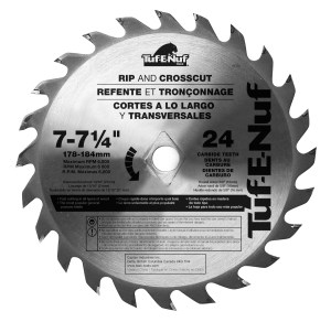 7-1/4″ 24T ATB Framing & Decking Blade