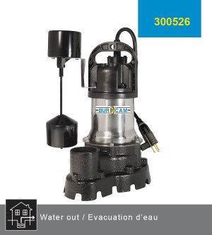 Burcam 1/2 hp Effluent pump