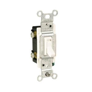 15-Amp White 3 Way Light Switch
