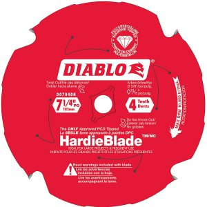 Diablo 7-1/4 Inch Fiber Cement Blade – Hardie Blade