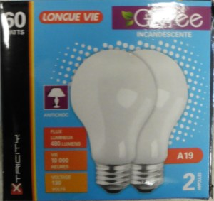 Light Bulbs 60w – 2pk