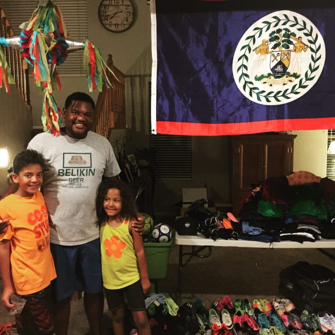 Belizean soccer donations