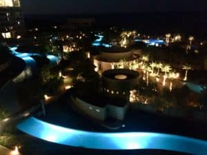 nightime at grand mayan Rocky Point Mexico