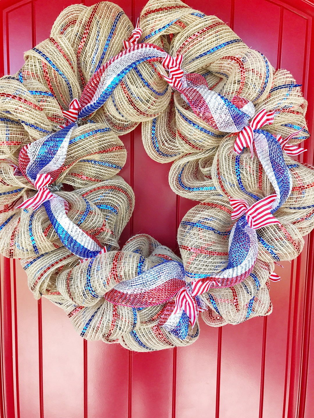 How to make a deco mesh wreath kelly lynns sweets and treats i added a sign by just hanging the wreath onto the wreath hook first and then hanging the sign in the middle baditri Images