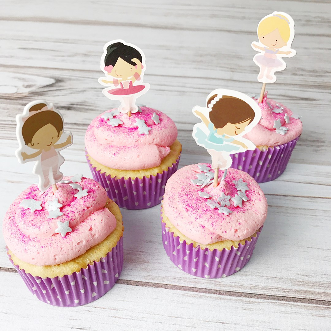 Ballerina Cupcakes - Kelly Lynn's Sweets and Treats