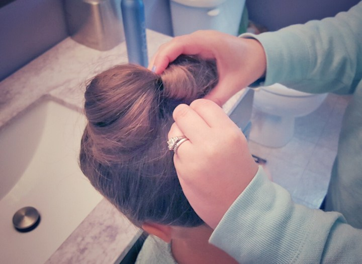hairbow, updo, activity