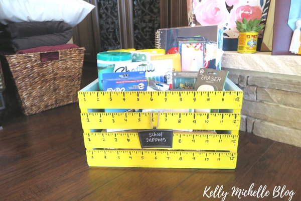 Teacher Supplies Crate