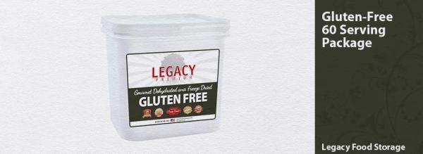 Legacy Gluten Free 60 Serving Entree Bucket