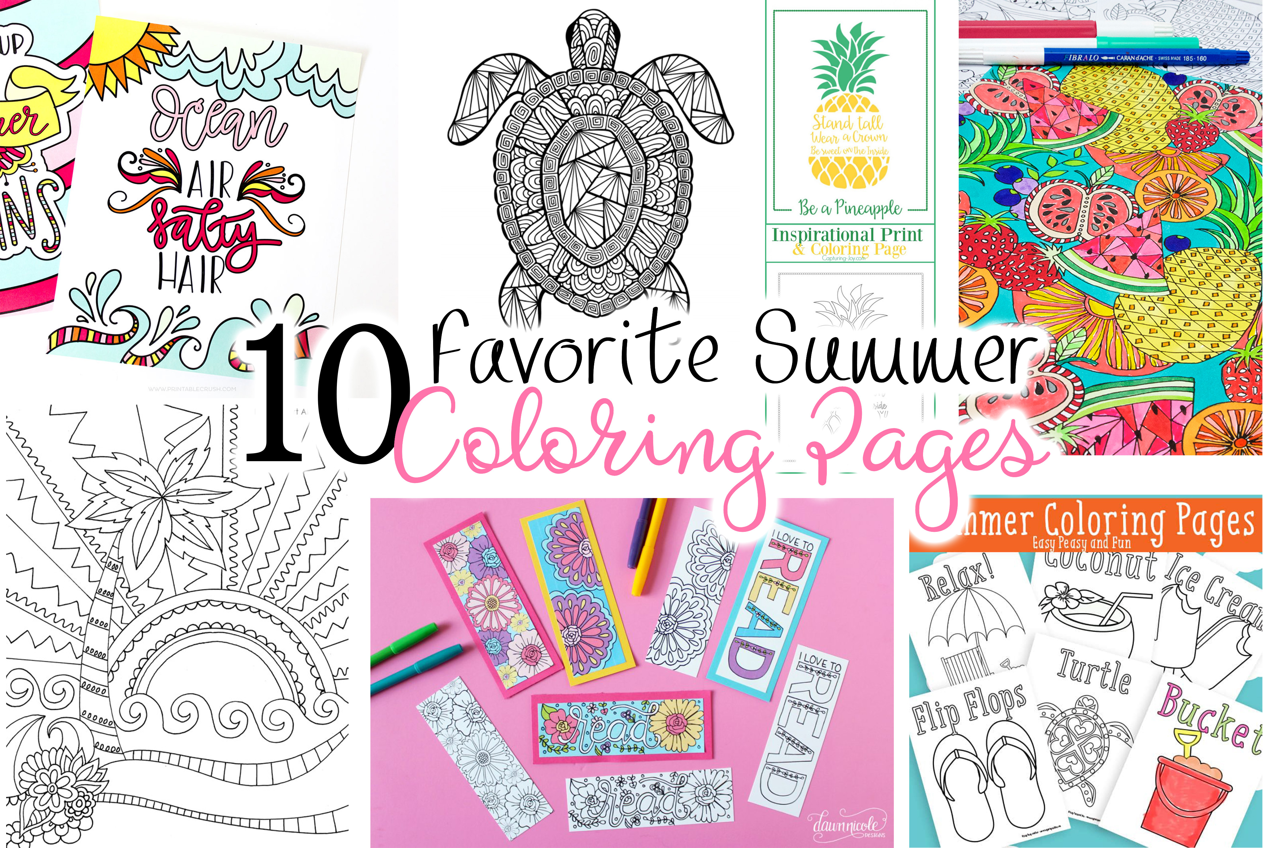 Printable Coloring Page Archives