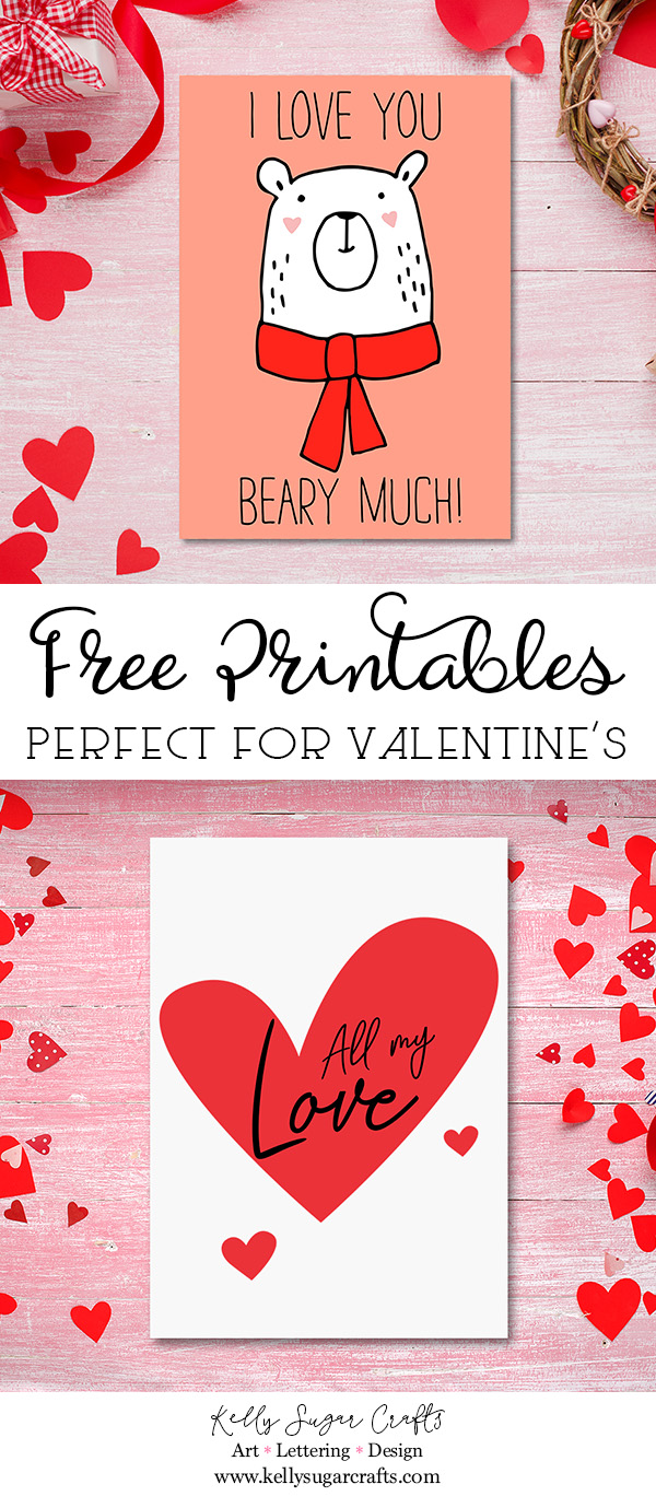 photograph relating to Valentines Day Cards Printable named No cost Valentines Working day Printable Playing cards Kelly Sugar Crafts