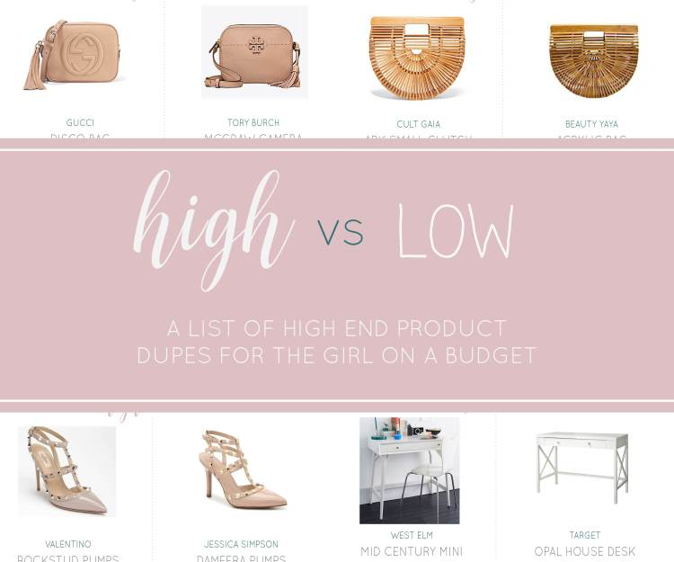 HIGH AND LOW: DESIGNER DUPES