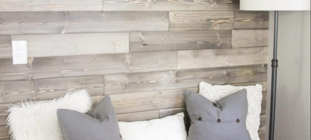 DIY wood shiplap wall