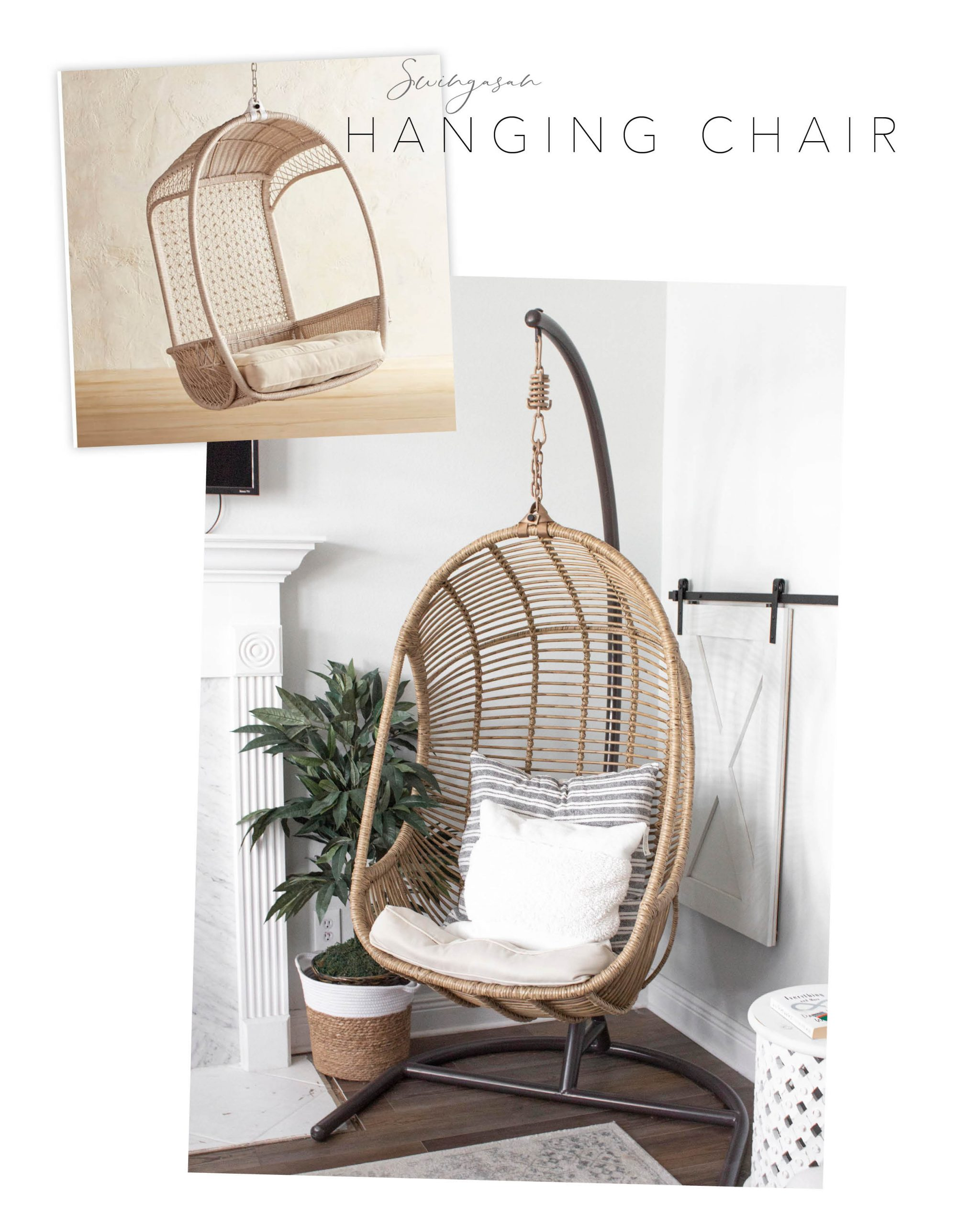 Pier 1 dupe swinging hanging chair
