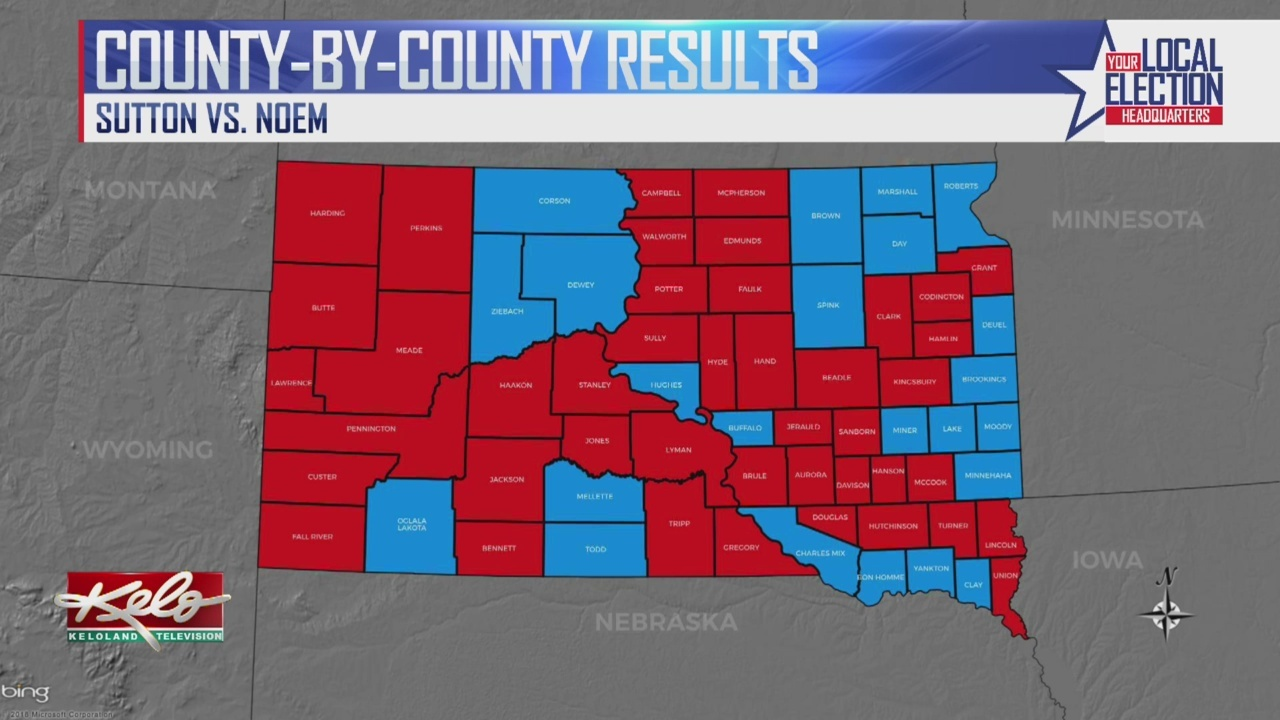 County By County Breakdown In Gubernatorial Race