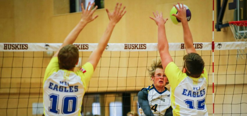 Huskies Take A Bite Out Of Voodoos In Volleyball Quarter