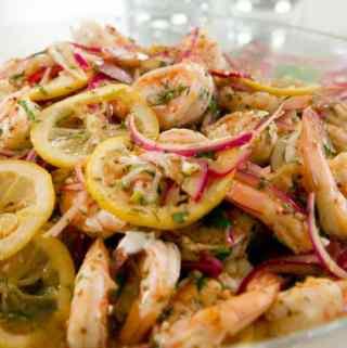 Pickled Shrimp with Lemon Aioli