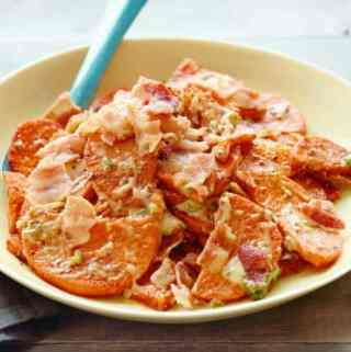 Spicy Smoked Sweet Potato Salad