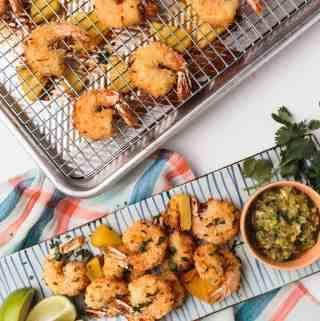 Crispy Coconut Shrimp with Roasted Pineapple Salsa