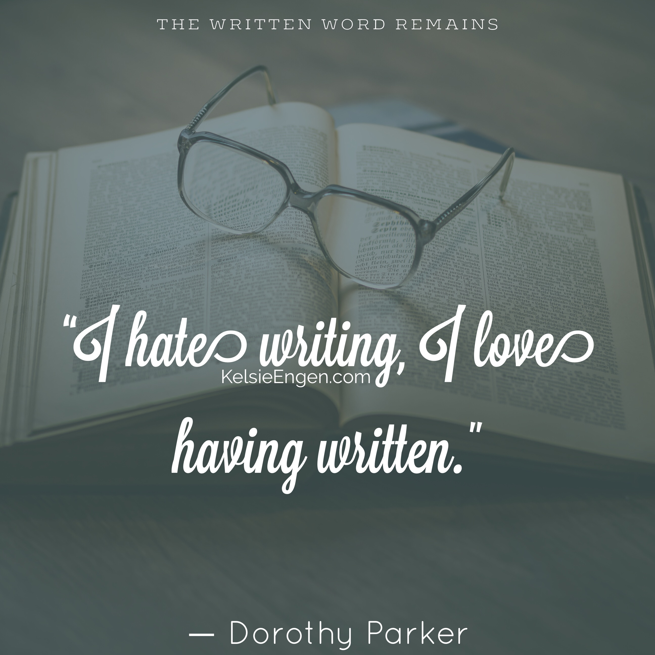 Quote of the Week – Dorothy Parker – 23 Nov 2015