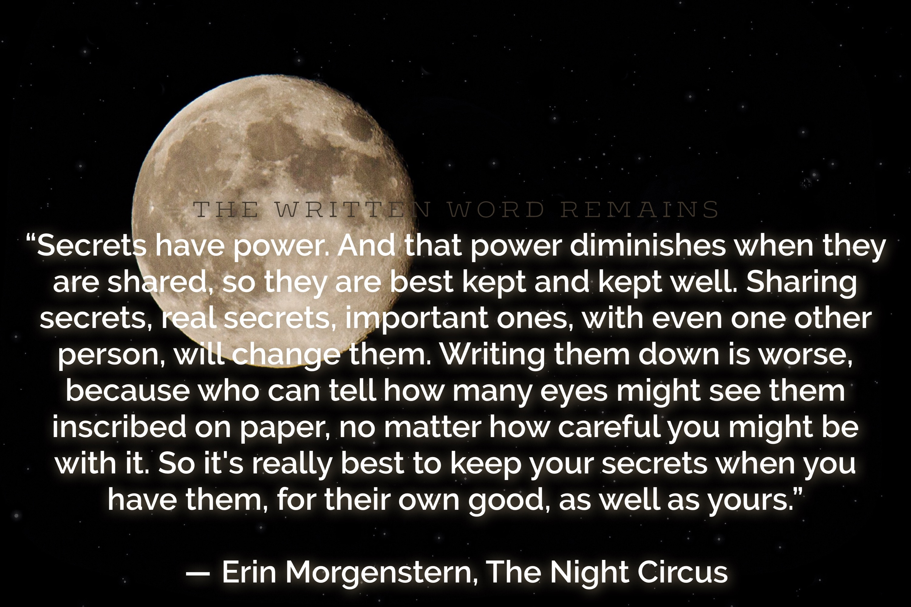Quote of the Week – Erin Morgenstern – 14 Dec 2015