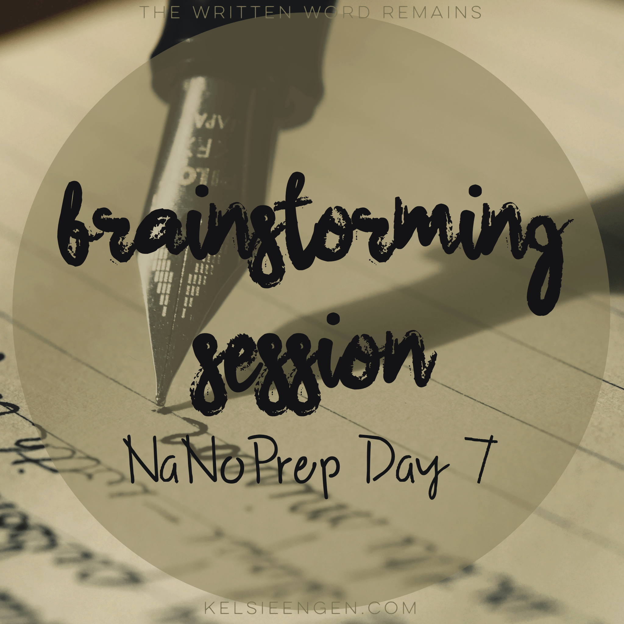 NaNoPrep #7: Brainstorm Session