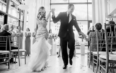 Chicago Greenhouse Loft ceremony exit _ Brighton Wedding Photographer