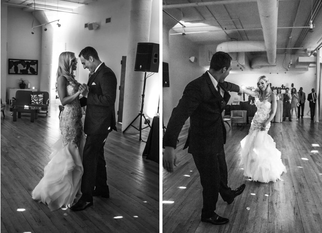 Chicago Greenhouse Loft wedding reception first dance _ Brighton Wedding Photographer