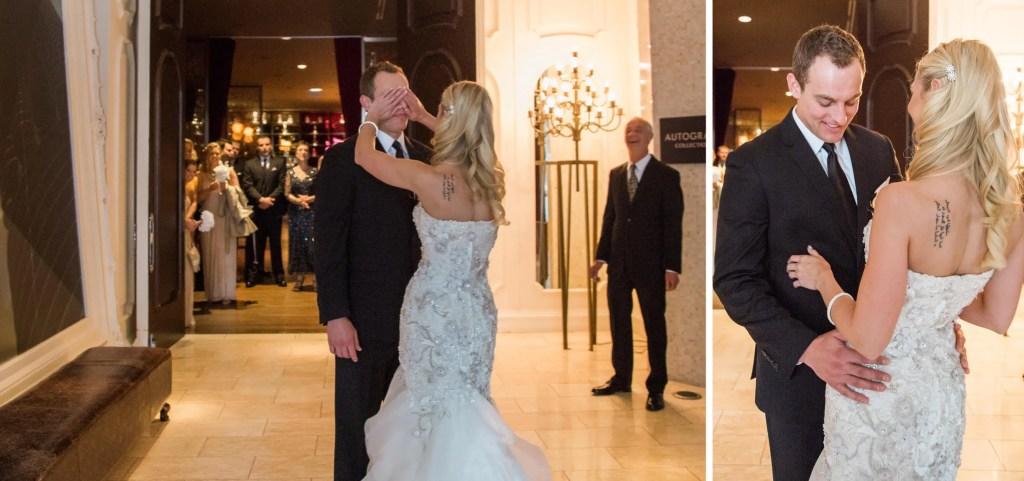 First look in Chicago hotel _ Brighton Wedding Photographer